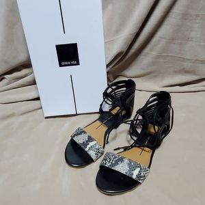 Black and snake print Dolce Vita Gladiator Sandals